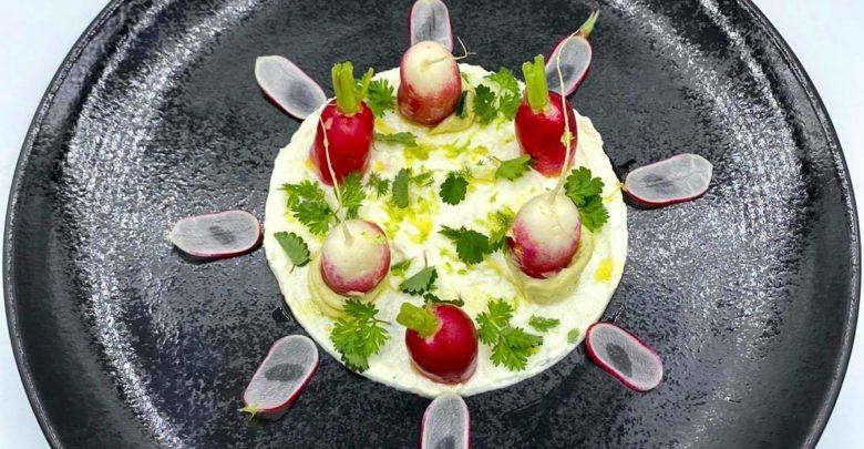 Les radis-beurre et chèvre frais d'Hubert Chanove