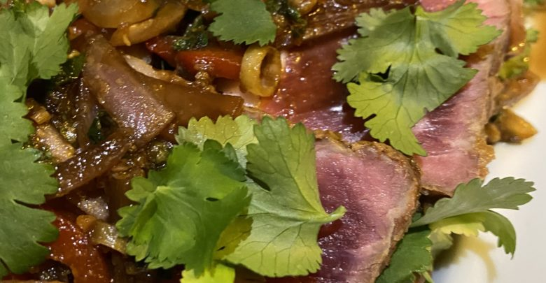 La salade de bœuf citronnelle-gingembre de Marc Favier